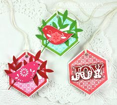 Folded Holiday Gift Tags by Dawn McVey for Papertrey Ink (October 2014)