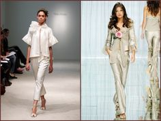 L: Vera Wang / R: Elie Saab...Great looks