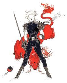Yoshitaka Amano - Heel - Final Fantasy VII