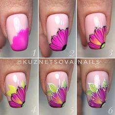 Маникюр | Ногти Trendy Nail Art, Nail Art Diy, Diy Nails, Manicure, Summer Gel Nails, Spring Nails, Nail Art Designs Videos, Nail Designs, Nail Art Fleur