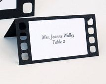 Movie film Tent Place Cards Set of 24