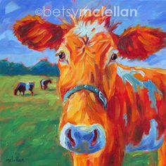 Cow Cow Art Cow Print Giclee Print por betsymclellanstudio