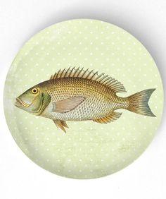 Sea Life Fish V  1800s fish artwork   10 inch by TheMadPlatters, $18.00
