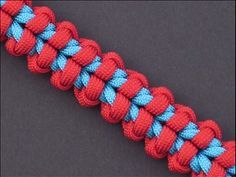 I really like this Bound Endless Falls paracord knot from FusionKnots. With the right colors this makes an awesome looking bracelet or bag strap. #ParacordBraceletHQ