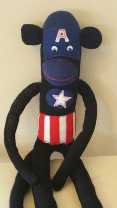 Captin America sock monkey
