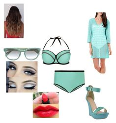 """""""beach"""" by themeltonkids on Polyvore featuring New Look, Prada and Pacific Beach"""