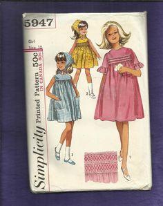 Vintage 1965 Simplicity 5947 Smock Yoke Sun by DaisyMaeandMe