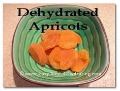 Dehydrated apricots - so easy! More info. at www.easy-food-dehydrating.com