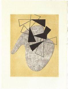Jean Arp, Sophie Taeuber Dessins collectifs faits à Grasse / Collective drawings done in Grasse Lithographie / Lithograph 38.5 x 28.5 cm 1941-1942