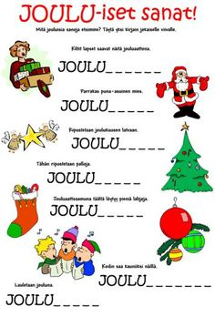 Tip tap ja joulutehtävät jakoon Finnish Language, Christmas Calendar, Working With Children, Educational Activities, Hobbies And Crafts, Special Education, Christmas Crafts, Kindergarten, Preschool