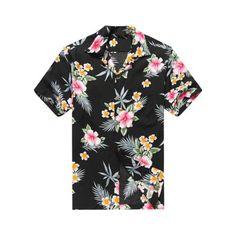 6348bfa7103 Men s Hawaiian Shirt Aloha Shirt 2XL Hibiscus Black