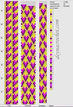 DEYNACROCHET: Браслеты - жгутики. Фото и схемы Crochet Perlé, Bead Crochet Patterns, Bead Crochet Rope, Beaded Jewelry Patterns, Seed Bead Patterns, Crochet Necklace Pattern, Peyote Beading Patterns, Loom Beading, Crochet Stitches