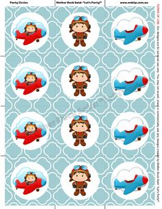 Little Pilot Airplane Birthday Party Printables Collection. $25.00, via Etsy.