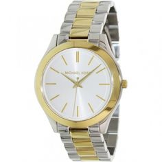 Shop for Michael Kors Women's 'Slim Runway' Two-Tone Stainless Steel Watch. Get free delivery On EVERYTHING* Overstock - Your Online Watches Store! Stainless Steel Watch, Stainless Steel Bracelet, Online Watch Store, Watch Sale, Unisex, Quartz Watch, Michael Kors Watch, Gold Watch, Watch Bands