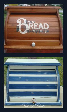 Old breadbox turned beachy and fun!  #Upcycle and #recycle old thrift store finds!