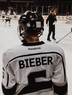 If Justin never became an artist he definitely be a hockey player
