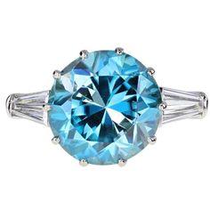 Platinum Diamond Rings, Blue Topaz Diamond, Diamond Solitaire Rings, Blue Zircon, Gold Platinum, Modern Engagement Rings, Deco Engagement Ring, Heart Shaped Diamond, Diamond Simulant
