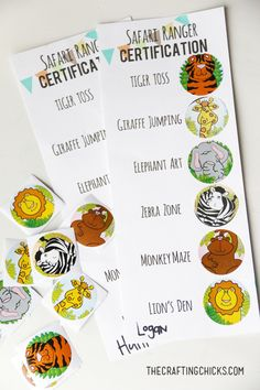 Safari Party Game Printables…Safari Ranger Certification William Higinbotham developed an analogue computer with vacuum Safari Party, Safari Jungle, Jungle Theme Parties, Jungle Party, Giraffe Birthday Parties, Safari Theme Birthday, Safari Birthday Party, Madagascar Party, Lion Party