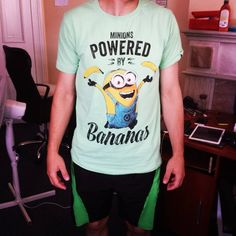 """#GeekShirtFriday has come! Like you can see we really like #cool and a little bit #geeky shirts ;) But what we love are #bananas, so every week we ask for more bananas at the office. Hmmm...we probably are hidden #minions. Anyway, like #gwenstefani sang """"Let me hear you say this shi(r)t is bananas! B-A-N-A-N-A-S"""""""
