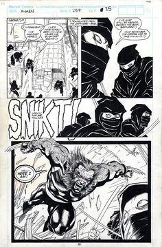 Uncanny X-Men #257 Page 25 Comic Art
