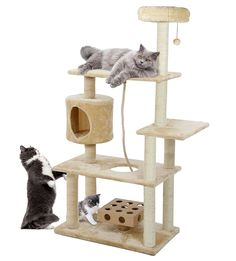 Furhaven Pet Cat Furniture Clubhouse Playground, Blue, 46.5' x 15.63' x 15.63' ** Click image to review more details. (This is an Amazon affiliate link)