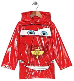 Disney Cars Boys Red Rain Coat  Size 6 *** Details can be found by clicking on the image-affiliate link.
