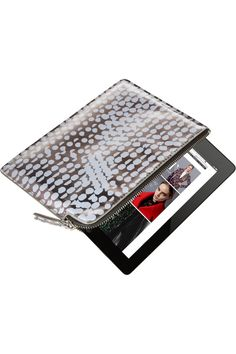 Marc by Marc Jacobs|Techno Lynne faux patent-leather iPad Mini casein silver iridescent
