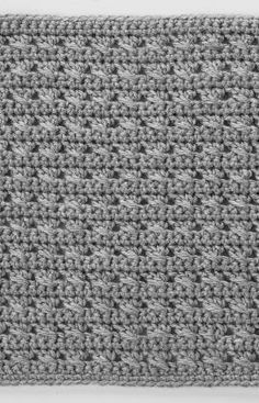 Cross-Stitched Square Free Crochet Pattern from Checkerboard Textures Throw Crochet Along