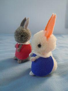 cute pom pom bunny