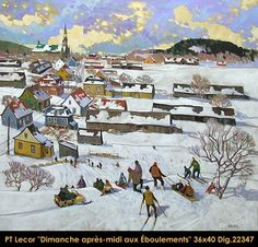 Original oil painting on canvas by Paul Tex Lecor Winter Art, Winter Time, Tex Lecor, Art Gallery, Canadian Artists, Sculpture, Winter Scenes, Oil Painting On Canvas, Art History