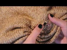 DIY fashion, here is a tutorial to show you how to DIY rip your sweater, knit, see more videos on our blog:  www.boatpeopleboutique.com