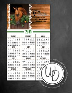 Business refrigerator calendar magnet by Wentroth Designs. Visit us on Facebook to request a price quote on your business and personal needs, such as wedding invitations, logo design and more!
