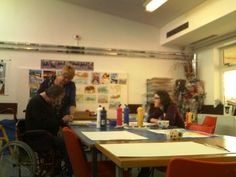 Open Studio as part of our Open Week. http://www.headway-cambs.org.uk/