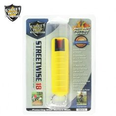 Lab Certified Streetwise 18 Pepper Spray 1/2 oz HARDCASE YELLOW  #selfdefence #pepperspray #panicalarm #peppersprayselfdefense #stunbaton #selfdefense #stungun #stundevices