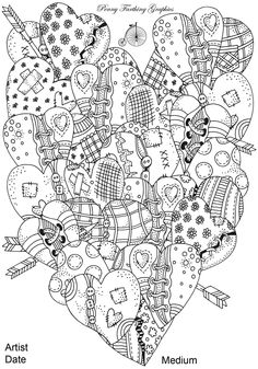 Immagine vettoriale stock 344867918 a tema Heartshaped Pattern Coloring Book Artistically Hand (royalty free) Emoji Coloring Pages, Heart Coloring Pages, Adult Coloring Book Pages, Printable Adult Coloring Pages, Cool Coloring Pages, Coloring Sheets, Coloring Books, Heart Hands Drawing, Zentangle