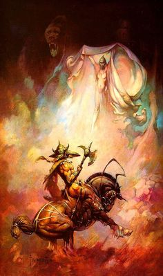 creamurjeans:The Apparition ~ Frank Frazetta