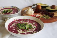 This Rawsome Vegan Life: beet & avocado soup with cashew cream
