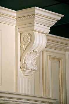 Beautiful single corbel above hood fan. Lea this is what u could do with just one!