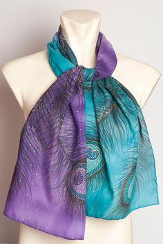 MADE TO ORDER Present Elegant Hand Painted Silk by LigaKandele