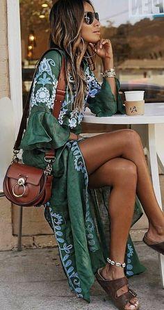 Look Hippie Chic, Looks Hippie, Estilo Hippie Chic, Boho Chic Style, Boho Looks, Trendy Style, Indie Style, Bohemian Look, Hippie Boho