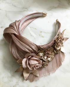 Blush and rose gold Turban style crown Fascinator Hats, Fascinators, Turban Headband Tutorial, Turban Headbands, Wedding Headband, Wedding Hats, Turbans, Headdress, Outfit