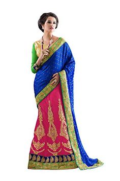 PCC Indian Women Designer Party wear blue pink and green Color Saree Sar * Click image to review more details-affiliate link. #IndianSarees
