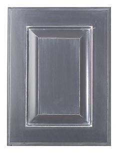 charcoal cabinet with white glaze to lighten up grey cabs in kitchen