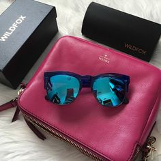 Wildfox Unisex Wayfare Sunglasses These are the 'IT' accessory of the season! As seen on many bloggers and celebrities. Blue tone and can be for you or as a goft for the BF. Brand new. One of the glass pieces moves a bit, no big deal. Only taken out to take photos. Offers welcome through offer tab. No trades. 1413161391 Wildfox Accessories Sunglasses