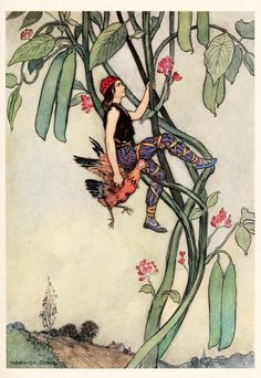 013-Jack y las habichuelas magicas-The fairy book  the best popular fairy stories -Goble Warwick 1913