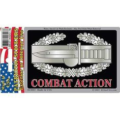 DECAL, ARMY COMBAT ACTION BADGE