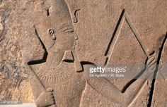 Stock Photo : Block with reliefs and inscriptions of Rameses II, Great Temple of Amun, Tanis, Egypt, Egyptian civilization, New Kingdom, Dynasty XIX