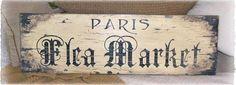 Paris Flea Market Sign