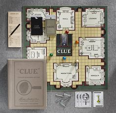 VINTAGE CLUE. My favorite board game restored to look like the original game. Perfection.