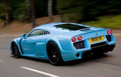 Baby blue Noble M600, Sweet - weighs about the same as a Mini Cooper but with 650 horses pulling you instead - it's an animal...x